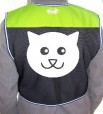 org smiley cat hi-vis back ylo
