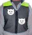 org smiley cat hi-vis front ylo